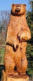 Медведь из дерева своими руками фото